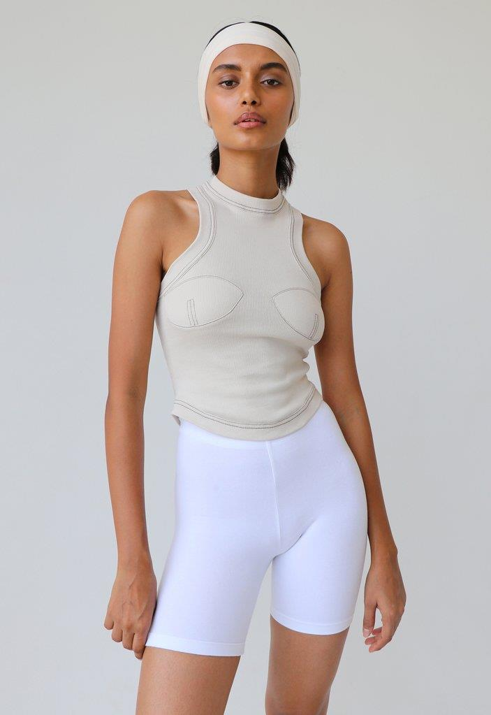 EXCLUSIVE RACERBACK SPORT TANK OFF-WHITE
