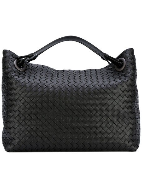 Bottega Veneta - woven tote bag - women - Calf Leather - One Size, Black, Calf Leather