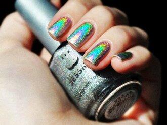 nail polish holographic cool unique nail art