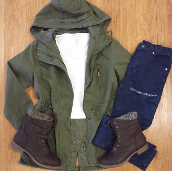 jacket green jacket winter jacket automn