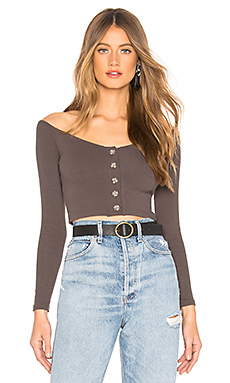 Privacy Please Quinn Top in Dark Grey from Revolve.com