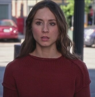 sweater red pretty little liars troian bellisario spencer hastings