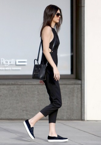 shoes jumpsuit black jumpsuit black kendall jenner