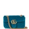 Gg marmont mini quilted-velvet cross-body bag | gucci | matchesfashion.com us