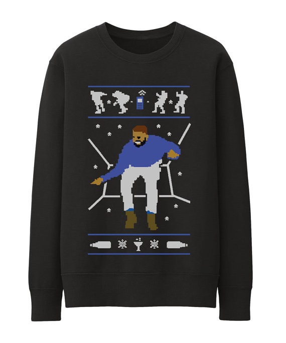 Dark Grey Ugly Christmas sweater