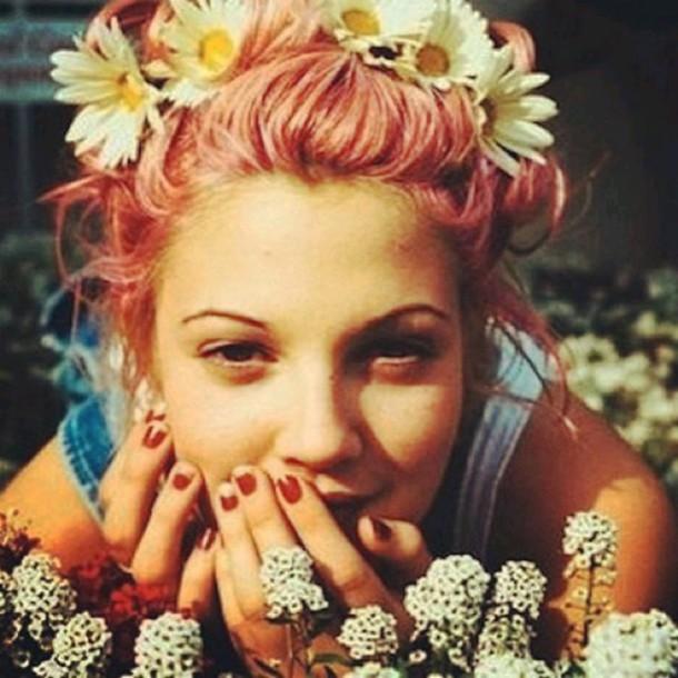 hair accessory grunge indie fleur