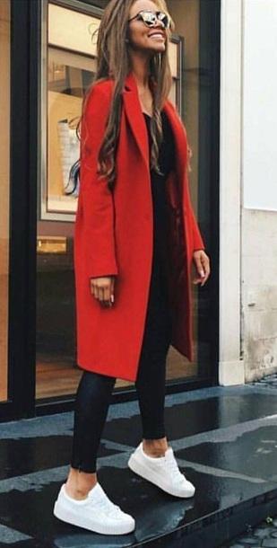 jacket mantel coat red style