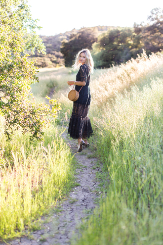 late afternoon blogger dress bag shoes jewels