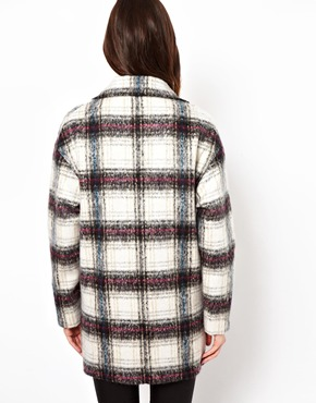 ASOS | ASOS Brushed Check Ovoid Coat at ASOS