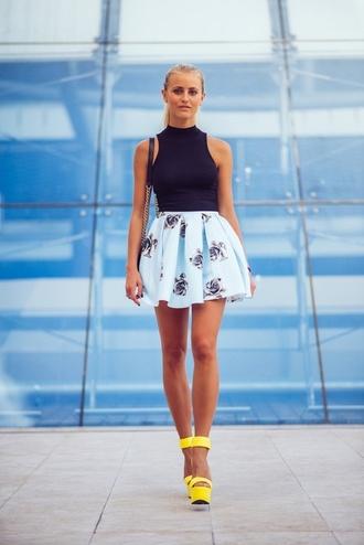 floral skirt skirt style skater skirt mint fashion floral floral skater skirt
