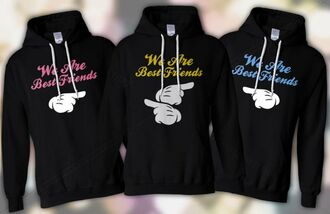 jacket black sweatshirt yellow pink white sweater/sweatshirt black jacket bff nice pinterest cute sweatshirt friendship