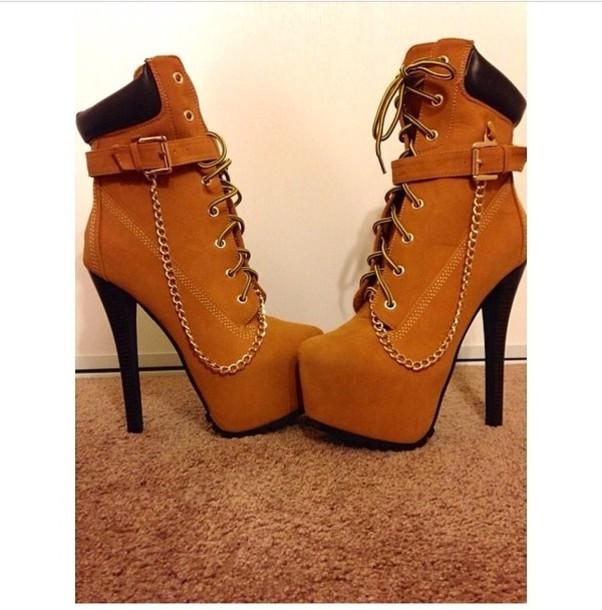 139de0e6052 shoes platform shoes high heels timberlands timber heels