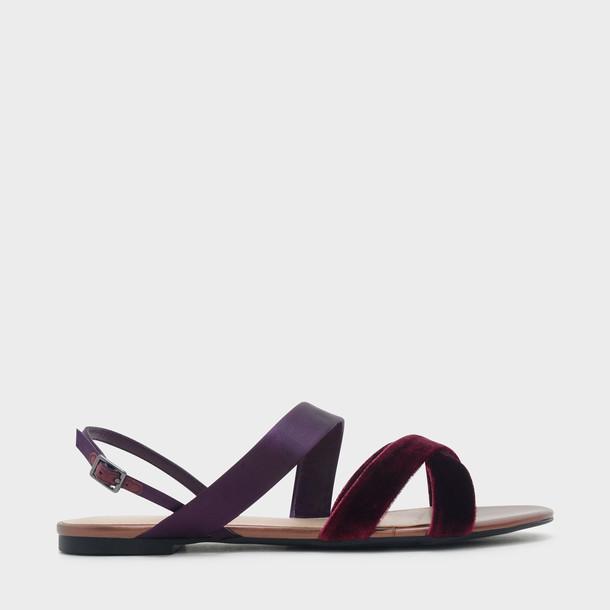 cross sandals purple shoes