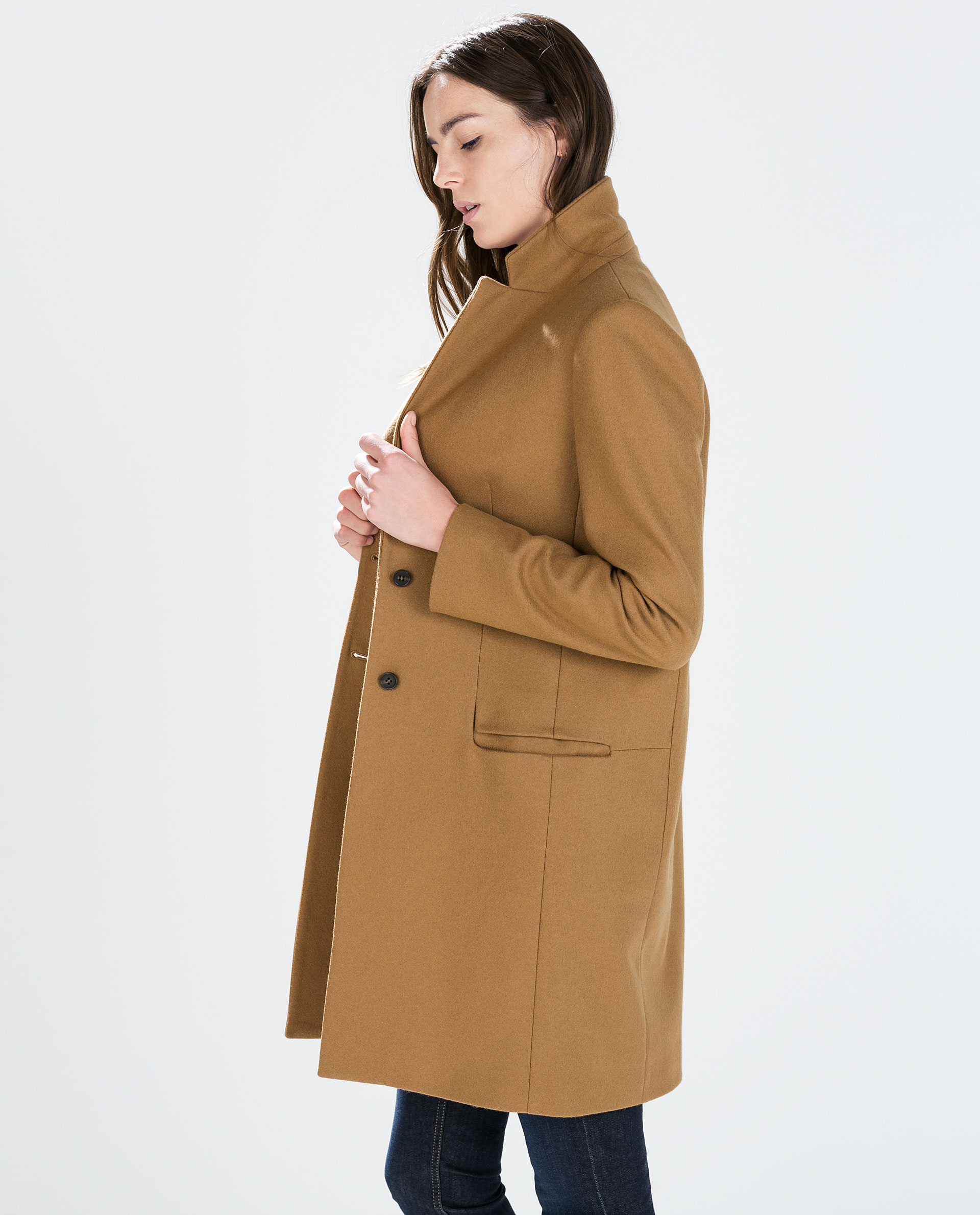 Wool Camel Coat Coats Outerwear Woman Zara United