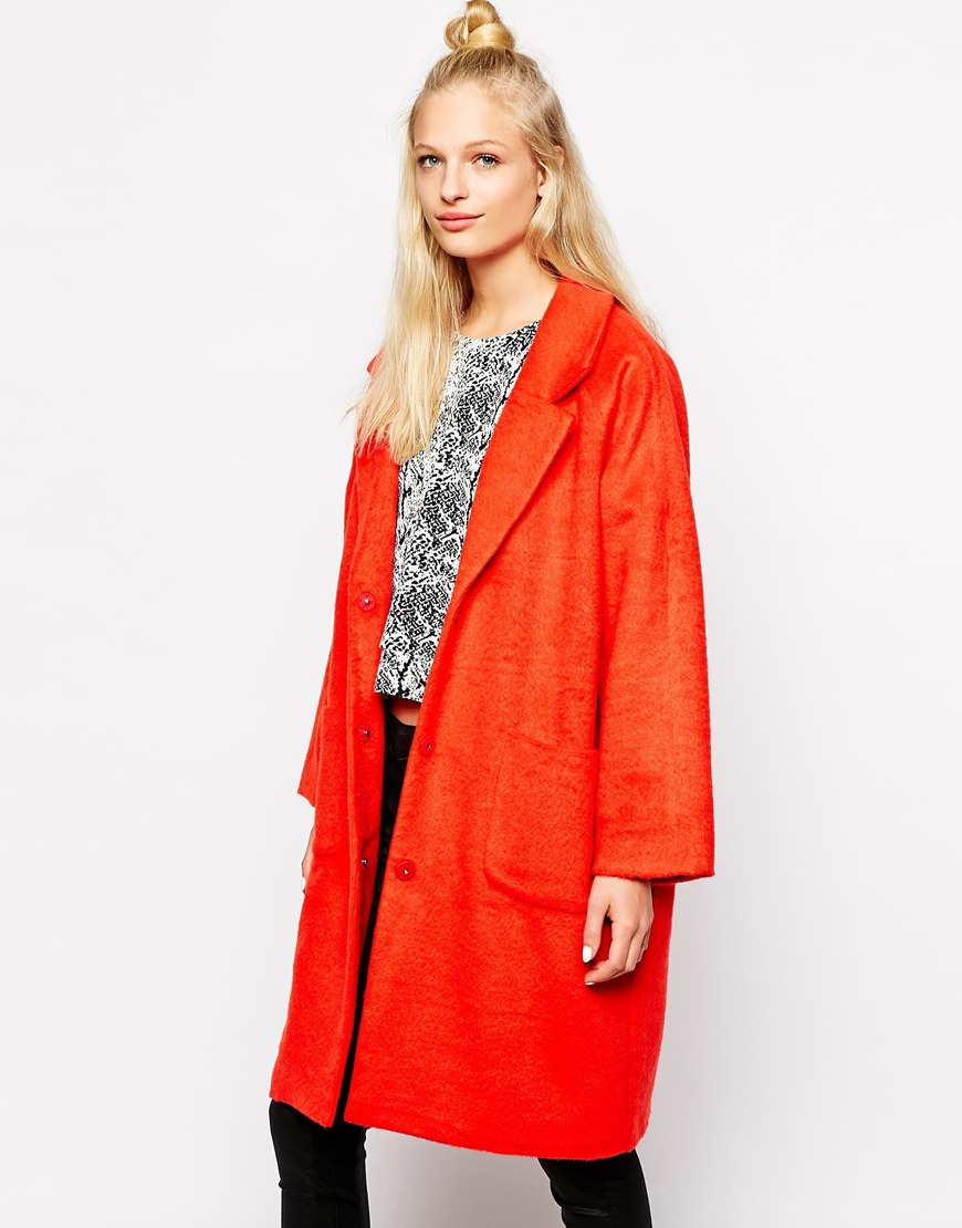 Monki Oversized Cocoon Coat at asos.com