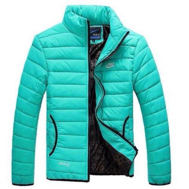 5aa1fb38941c coat teal nike green blue black someone has to know bubble jacket winter  outfits jacket someone