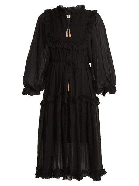 Zimmermann dress silk dress silk black