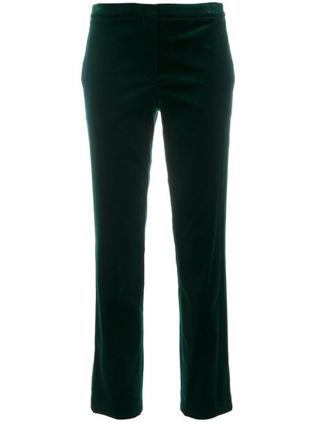 theory cropped women spandex cotton green pants