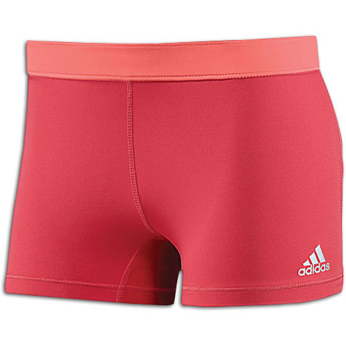 adidas TechFit Boy Shorts - Women's - Training - Clothing - Joy/Red Zest/Matte Silver