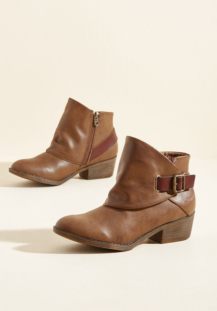 BF-6728 sill brown booties straps booties heels leather brown shoes