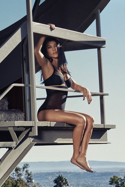 underwear kourtney kardashian kardashians celebrity black lingerie panties