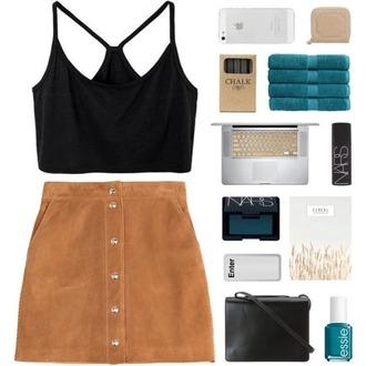 t-shirt summer chic boho skirt crop tops crop black shirt