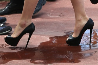 shoes christian louboutin carey mulligan heels high heels