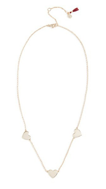 SHASHI heart necklace gold yellow jewels