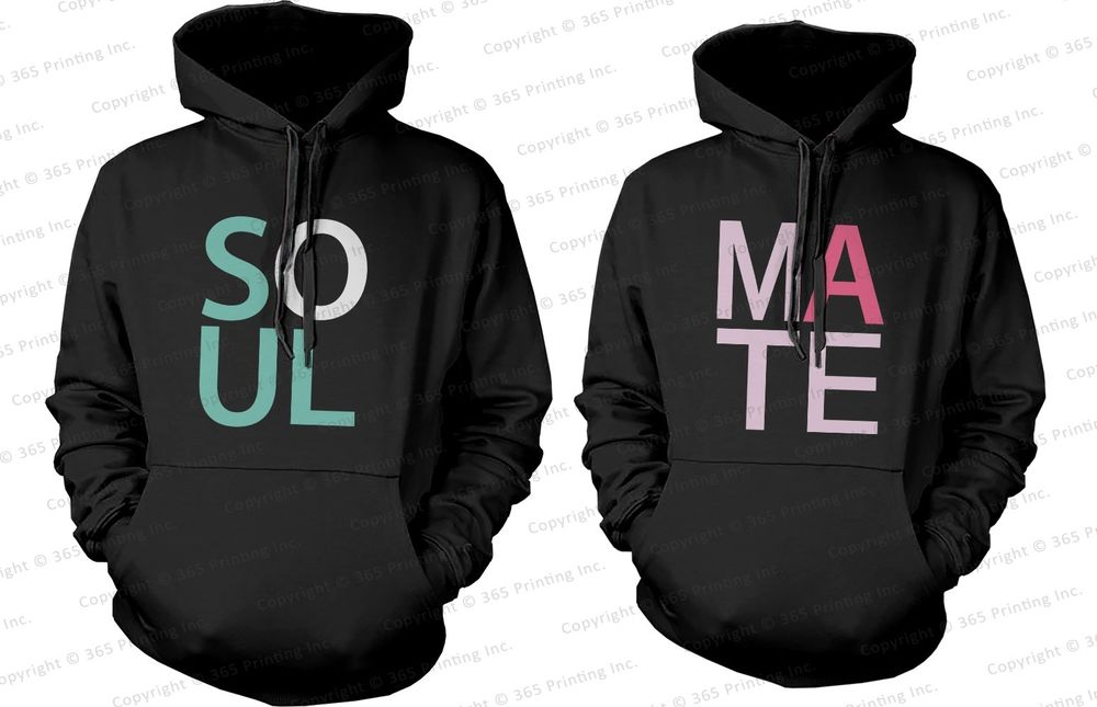 SOUL MATE - His and Her Matching Couple Hoodies