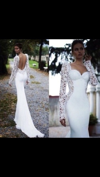 dress white prom lace white