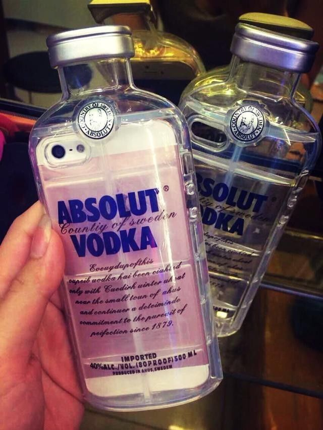 ABSOLUT VODKA Bottles ALCOHOL Tpu Transparent Crystal Cover Case For iPhone 5S 5