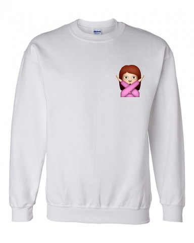 Emoji crossed out crewneck sweatshirt