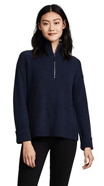 360 Sweater sweater zip navy