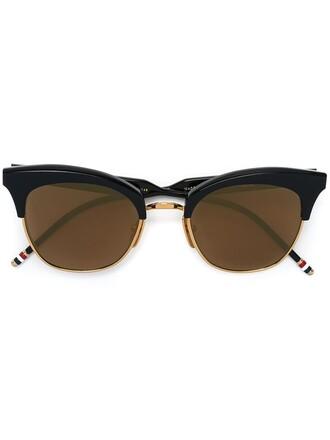 metal women sunglasses gold blue
