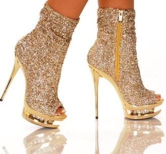 shoes high heels sexy gold sequins