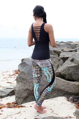 leggings equilibrium activewear bottoms print equilibrium activewear workout leggings bikiniluxe