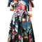 Moschino - space print dress - women - polyamide/viscose - 44, polyamide/viscose