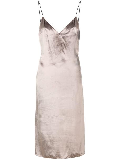 Rag & Bone dress shift dress metallic women silk brown
