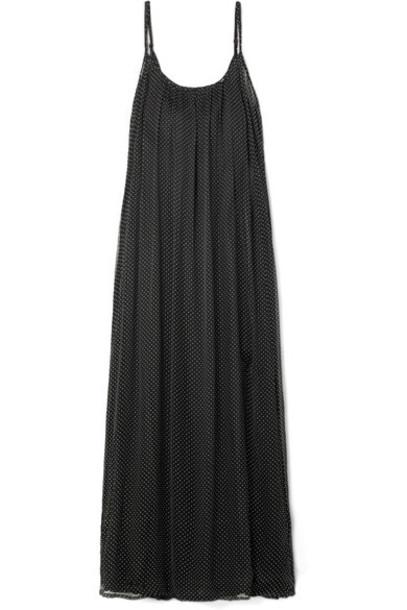 MES DEMOISELLES dress maxi dress maxi chiffon embellished black
