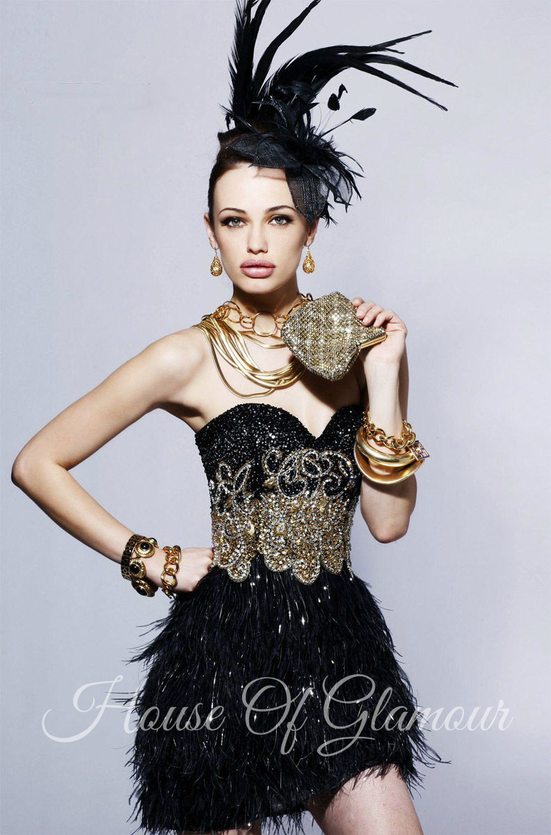 Sherri hill feather dress from house of glamour on storenvy