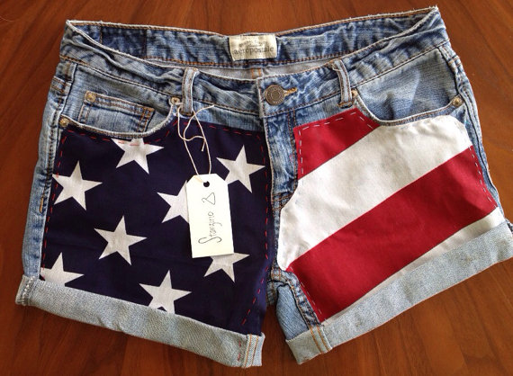 American Flag Shorts by Stanzino on Etsy