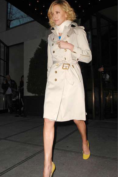 charlize theron coat trench coat