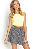 Forever 21 Lace Trim Chiffon Skirt - ShopStyle