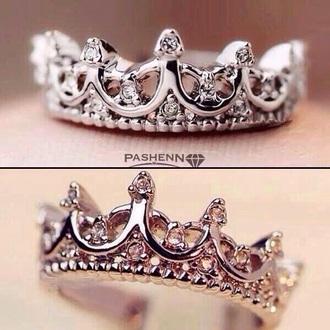 jewels crown ring princess