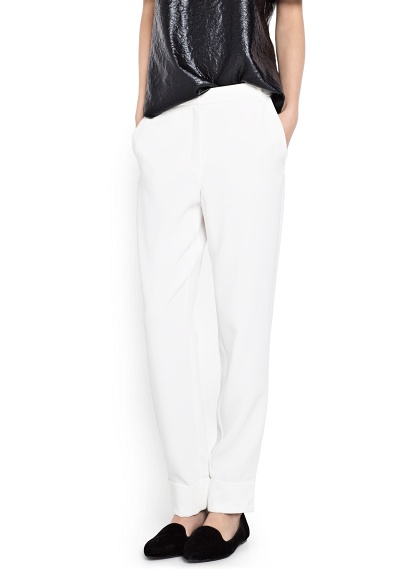 MANGO - CLOTHING - Trousers - Crepé suit trousers