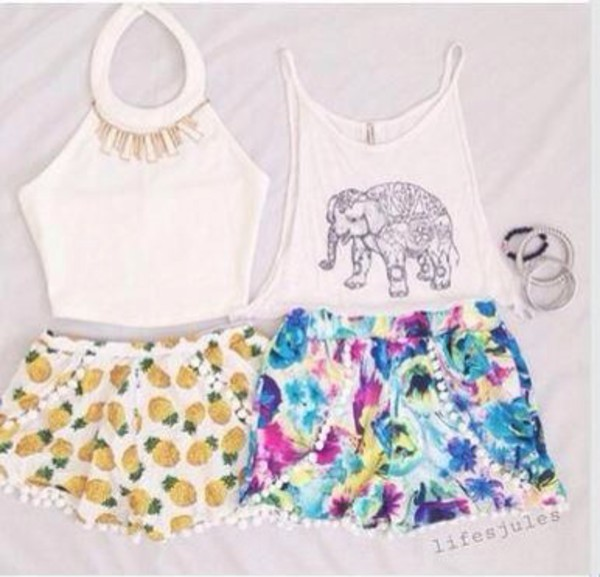 pineapple print shorts pineapple shorts