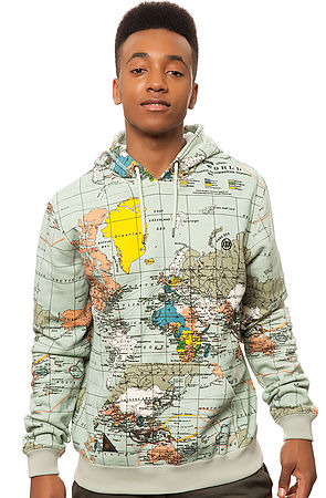 Sweater Map Print Coat Jacket Cute Streetwear Urban