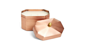 home accessory copper candle