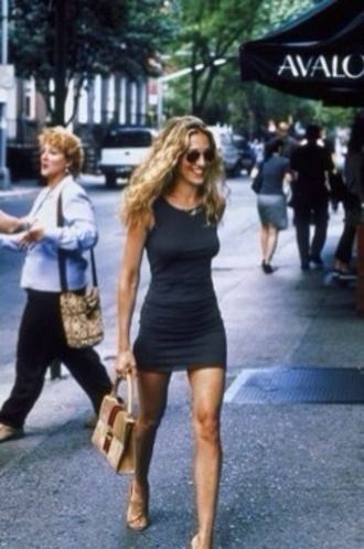 dress satc dress little black dress carrie bradshaw