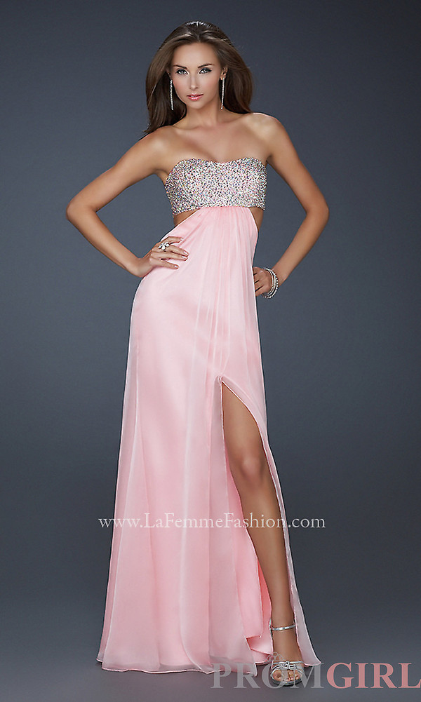 dress pink prom dress long prom dress cotton candy sparkle